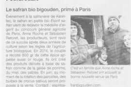 Le safran bio bigouden primé à Paris